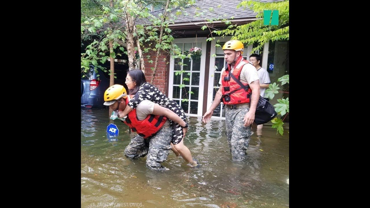 Dramatic Rescues Following Hurricane Harvey