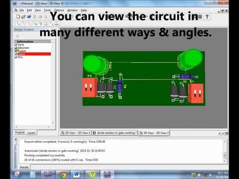 NI Multisim Ultiboard- VBB Diode-Resistor Logic Gates AND & OR