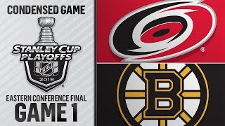 NHL 19 PS4. 2019 STANLEY CUP PLAYOFFS EAST FINAL GAME 1: HURRICANES VS BRUINS. 05.09.2019. (NBCSN) !