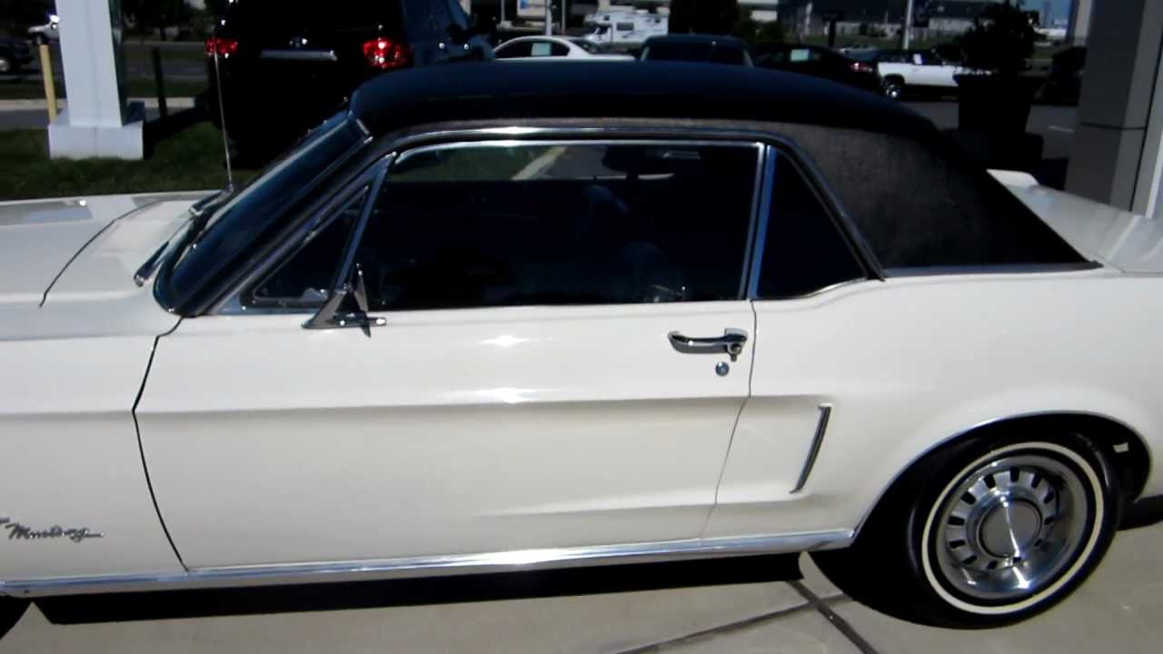 WIMBLEDON WHITE 1968 FORD MUSTANG 289 C 4 TRANS SOLD