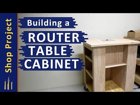 Building a Router Table Cabinet (WITHOUT A TABLE SAW!)