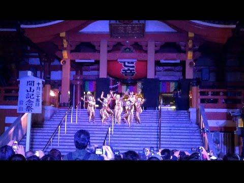 Naked Gold Dancing Aliens in Japan!!