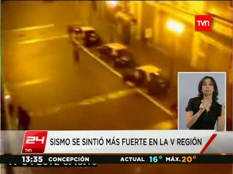 Temblor 6.3 en vivo TVN 24 Horas Chile 170412 0:50
