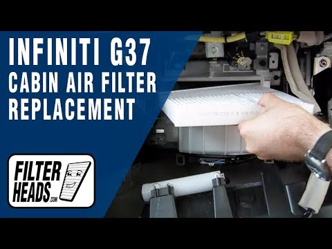 Cabin Air Filter Replacement Infiniti G37 Youtube