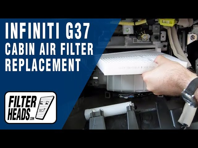 Cabin air filter replacement- Infiniti G37 - YouTube