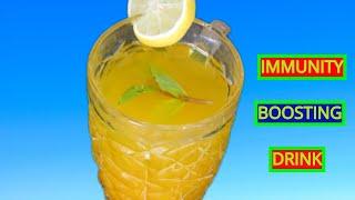 Immune Booster :Lemon Ginger Turmeric Tea/ How to Improve Immunity Naturally Healthy Indian Tea