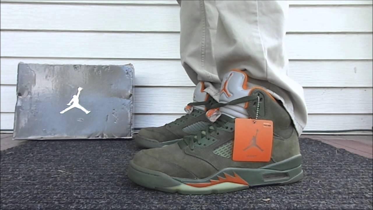 Olive 5 Jordans Air Jordan Retro v 5 Olive