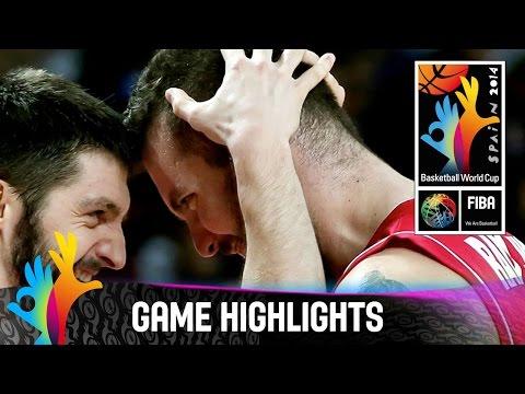 France V Serbia - Game Highlights - Semi-final - 2014 Fiba World Championship video