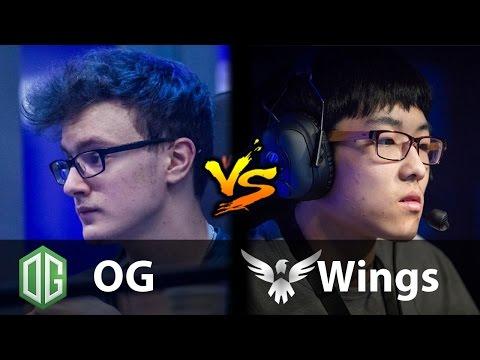 OG vs Wings - [EUROPE vs CHINA] - Dota 2 6.88b