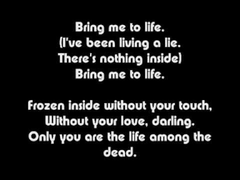 Wake Me Up Inside (bring Me To Life) Lyrics video