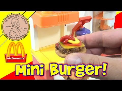 McDonald's Happy Meal Magic 1993 Hamburger Maker Set - Making Hamburgers!