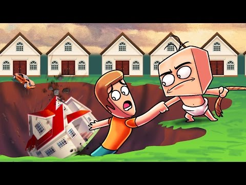 Minecraft  Whos Your Daddy? Sinkhole Destroys EVERYTHING! Baby vs Sinkhole