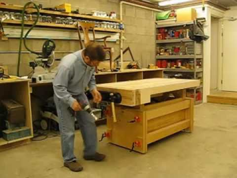 adjustable height workbench plans