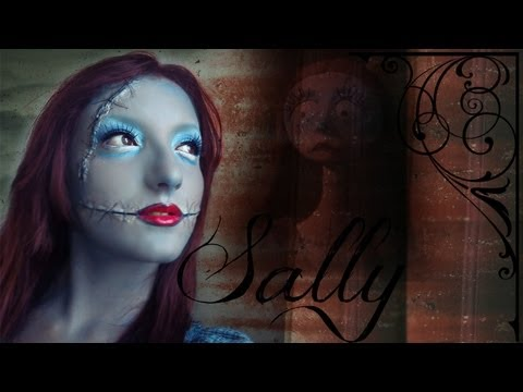 Halloween Sally The Nightmare Before Christmas Tim Burton's Collaboration Make Up Tutorial 12