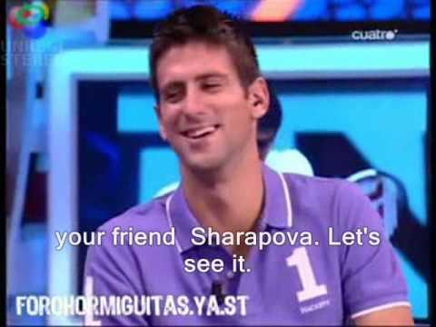 Novak Djokovic in Hormiguero spanish tv show part 2