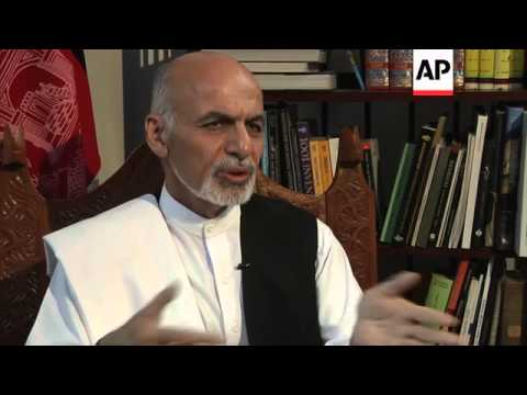 ONLY ON AP: Presidential candidate Ashraf Ghani hopeful vote deal will work
