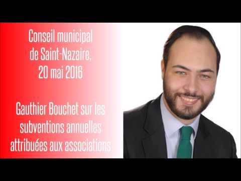 CM de Saint-Nazaire, 20.05.16 — Gauthier Bouchet sur l'attribution des subventions aux associations