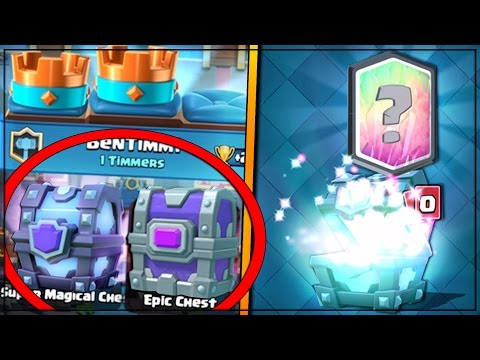 Free Super Magical Epic Chest Drop Clash Royale Opening Legendary