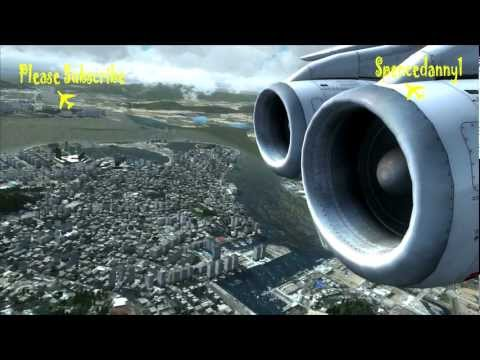 Realistic FSX Movie. Qualitywings BAE 146 Avro Landing at Sim-Market Macau