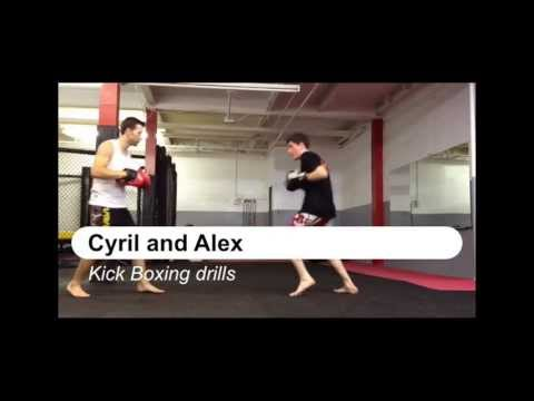 Kick Boxing Drills - Pads work - Cyril and Alex ProStar MMA Image 1