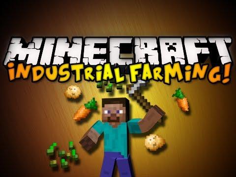 Minecraft Industrial Farming Mod - AUTOMATIC PLANTING, BREEDING, & MORE! (HD)