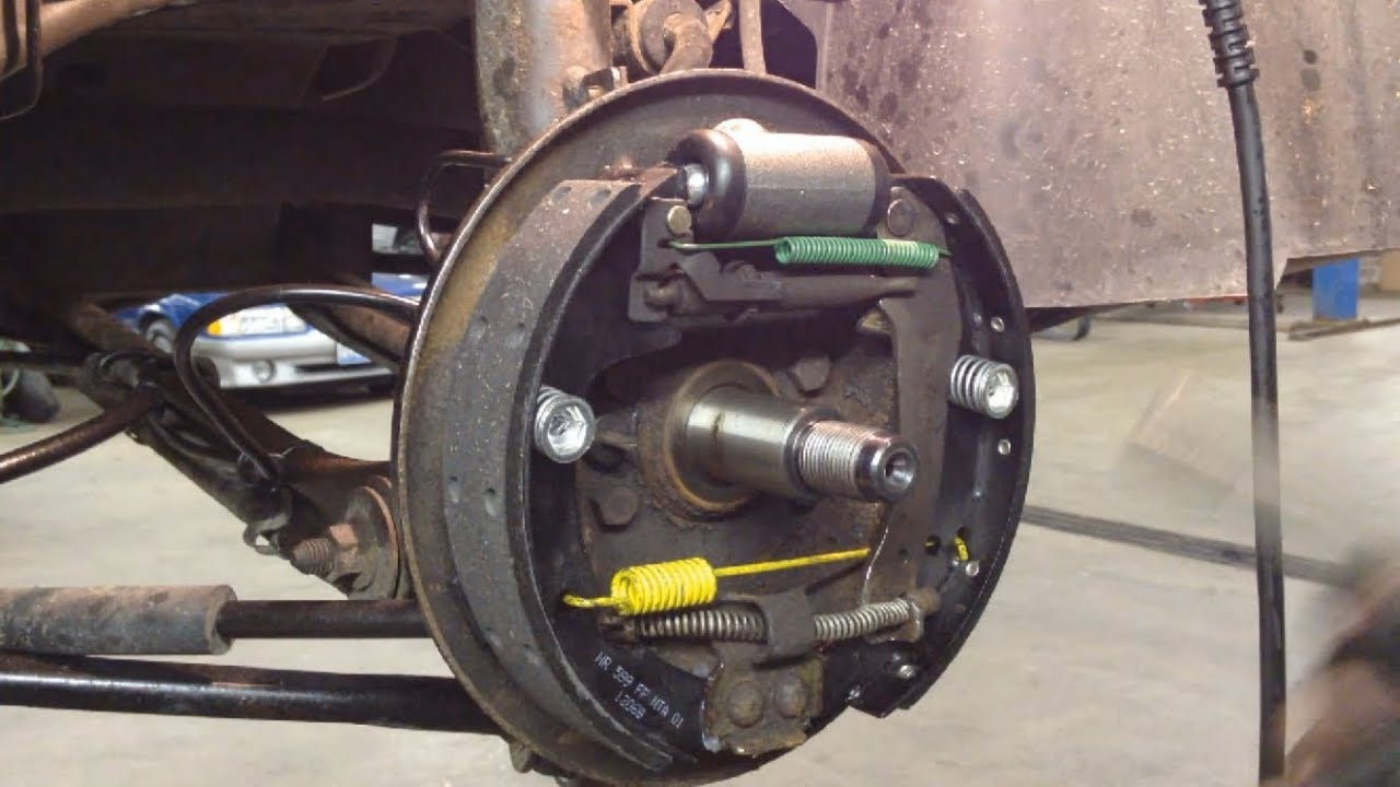 Ford Taurus Rear Drum Brakes Replacement - YouTube