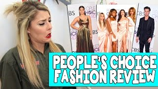 PEOPLES CHOICE AWARDS FASHION REVIEW // Grace Helbig