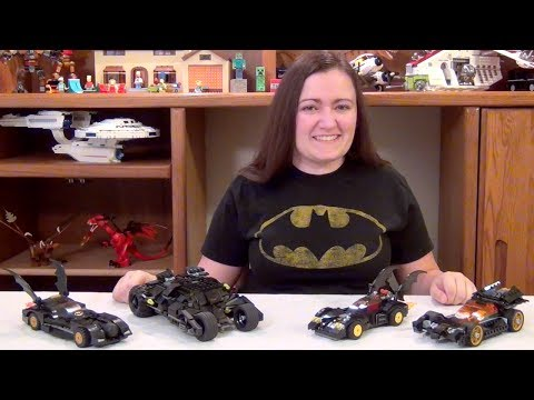 LEGO Batman Batmobile Comparison 2006 - 2014