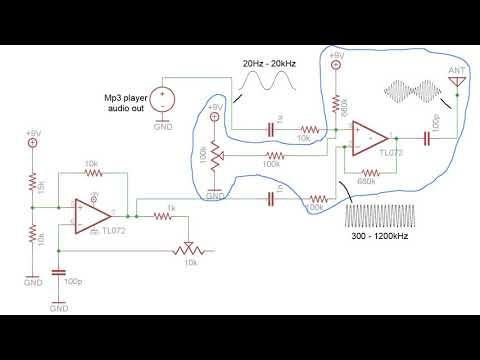 Amplitude Modulation tutorial and AM radio transmitter circuit