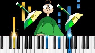 Baldi's Basics - SWEEPING TIME (YoruShika) - Piano Tutorial / Piano Cover
