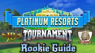 Golf Clash, Platinum Resorts Rookie Walkthrough  - Hole 1-9 Guide
