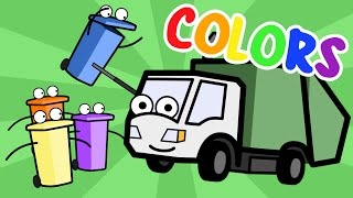 Learning Colors Song With Munchie the Garbage Truck Baby, Toddler, Kindergarten Kids Learning Videos