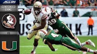 Florida State vs. Miami Condensed Game | 2018 ACC Football