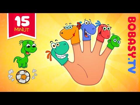 Rodzina Palcow - Dinozaury Bawią Się Piłką - Piosenki Dla Dzieci Bobasy.tv