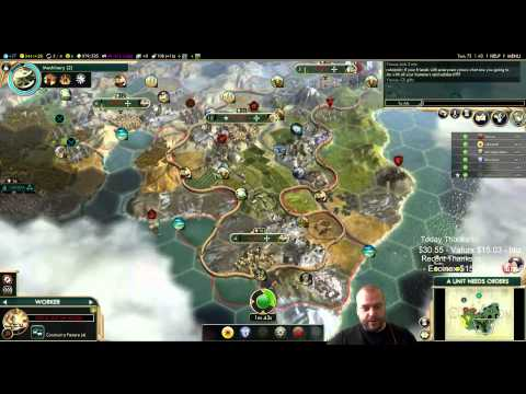 Civilization 5 Multiplayer 134: Ethiopia [3/4] ( BNW 6 Player Free For All) Gameplay/Commentary