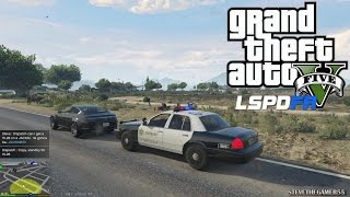 GTA 5 - LSPDFR - EPiSODE 45 - LET'S BE COPS - SHERIFF PATROL (GTA 5 PC POLICE MODS)  SANDY SHORES