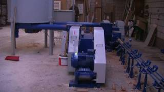 Briquetting machines, briquette-pellets, BT60 double line, sawdust, 1000-1500 kg/h - netherlands
