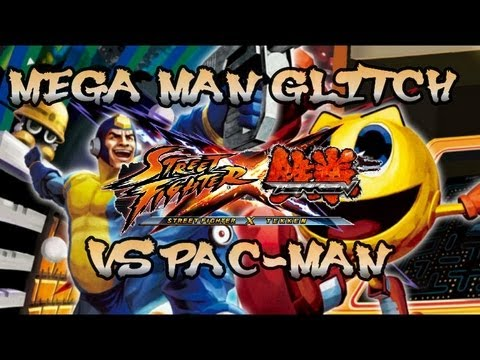 Street Fighter X Tekken: Mega Man cross rush glitch against Pac-Man