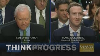 Confused senators at Mark Zuckerberg's hearing asked confusing questions
