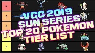 VGC 2019 Sun Series Top 20 Pokemon Tier list - Pokemon Ultra Sun and Ultra Moon Discussion
