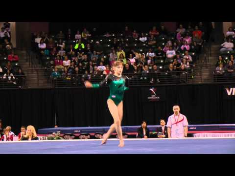 Maria Kharenkova - Jr Floor Exercise Finals - 2012 Kellogg&#039;s Pacific Rim Championships - 3rd
