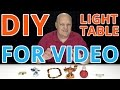 DIY Light Box / Back-lit Light Table - White Background for Table Top Video's, Unboxings