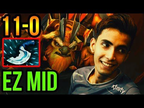 Sumail Earthshaker Mid - EZ Win 11-0 - Patch 7.16 - Dota 2 Pro Gameplay