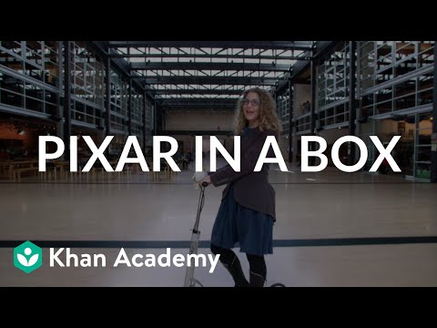 Pixar is showing the techniques behind their films on Khan Academy via 'Pixar in a Box'