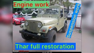 Mahindra thar full restoration