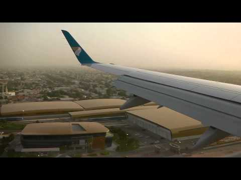 Oman Air E175 landing in Dubai