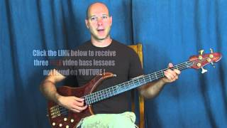 beginner bass guitar lesson awesome bassline style of Sonic Youth