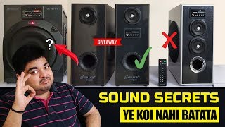 Speaker Buying Guide | 5 Secrets Which Seller's Don't Tell | #THE REAL GYAN