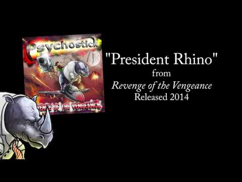 President Rhino + LYRICS [Official] by PSYCHOSTICK online metal music video by PSYCHOSTICK