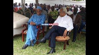 LOWASSA ,SEFUE Walivyowasili Msibani kwa Baba Salma Kikwete